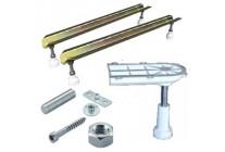 Podpěry, nožičky, montáž