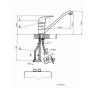 BE1840AA Baterie stojánková páková pro beztlakové ohřívače vody