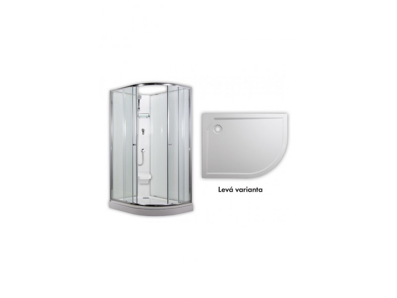 ARTTEC SIRIUS - sprchový box model 2 clear levá