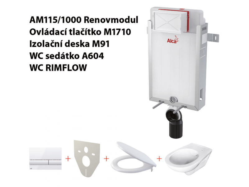 Set 5v1 AlcaPlast AM115/1000, WC Rimflow