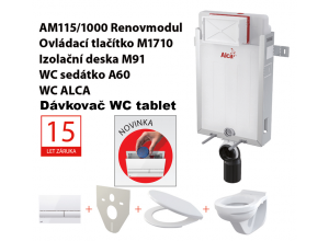 Set 5v1 ALCAPlast AM115/1000, WC ALCA + P169