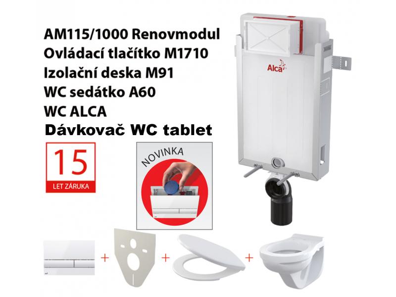 Set 5v1 ALCAPlast AM115/1000, WC ALCA + P169
