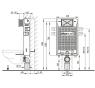 Renovmodul AlcaPlast WC modul AM115/1000