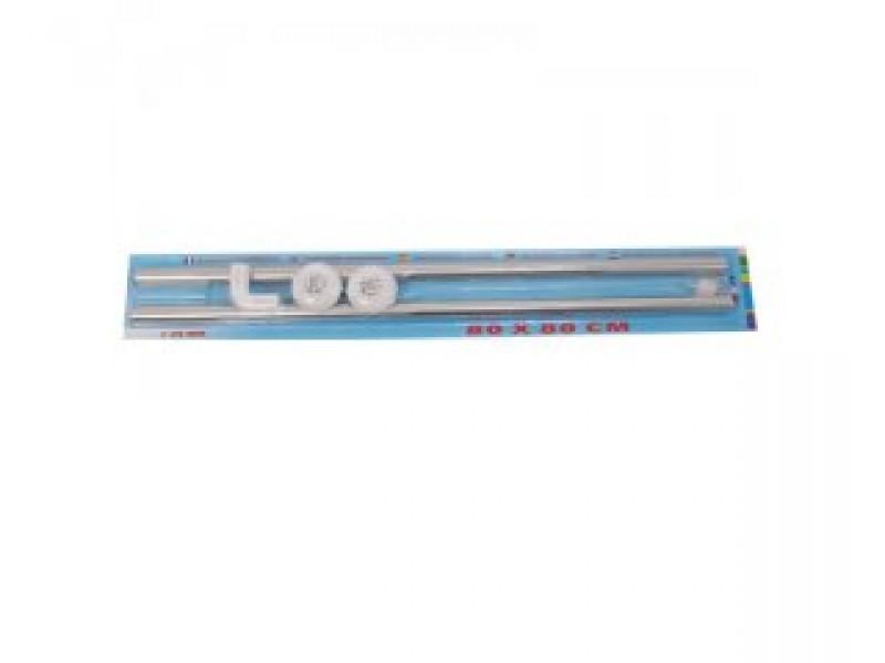 Závěsová tyč rohová Arttec 80x80 cm - nerez