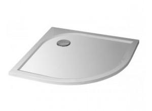 STONE 9090R S - sprchová vanička čtvrtkruhová - středový odpad