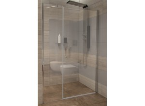 GAMA 140×190 cm čiré Well sprchové dveře do niky