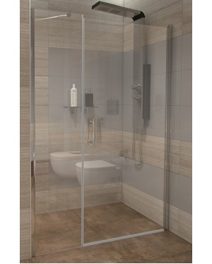 GAMA 150×190 cm čiré Well sprchové dveře do niky