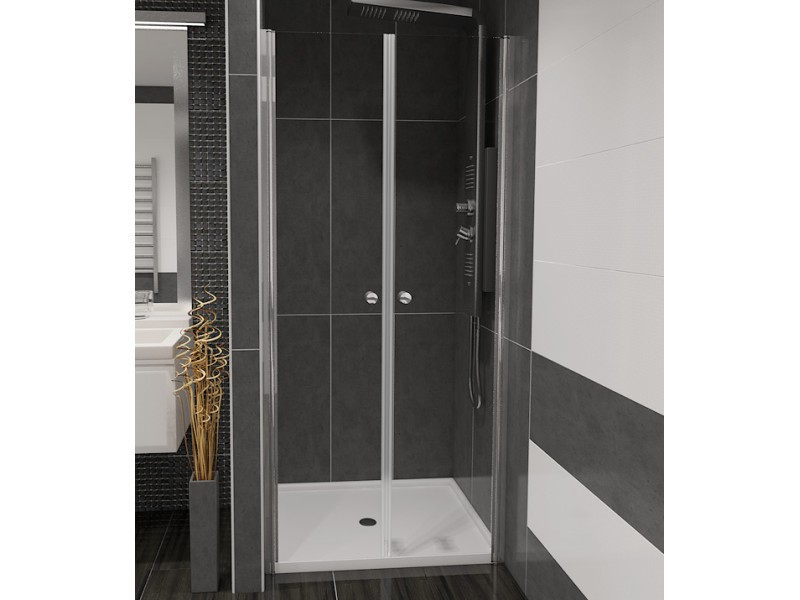 BETA 80 Čiré Well Sprchové dveře do niky dvoukřídlé