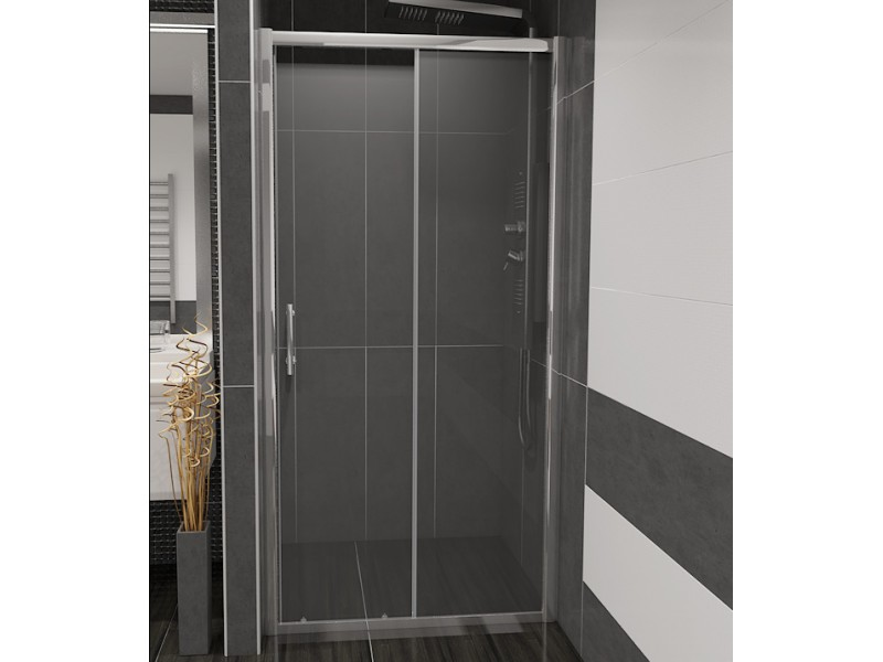 NICOL 100 čiré Well sprchové dveře do niky