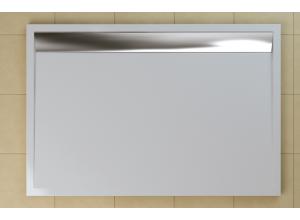 WIA 90 100 50 04 SanSwiss Sprchová vanička obdélníková 90×100 cm bílá, kryt aluchrom