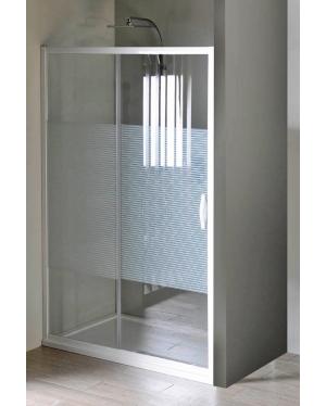 ETERNO GE6912 Gelco Sprchové dveře dvoudílné posuvné - sklo Strip, š. 120 cm, v. 190 cm