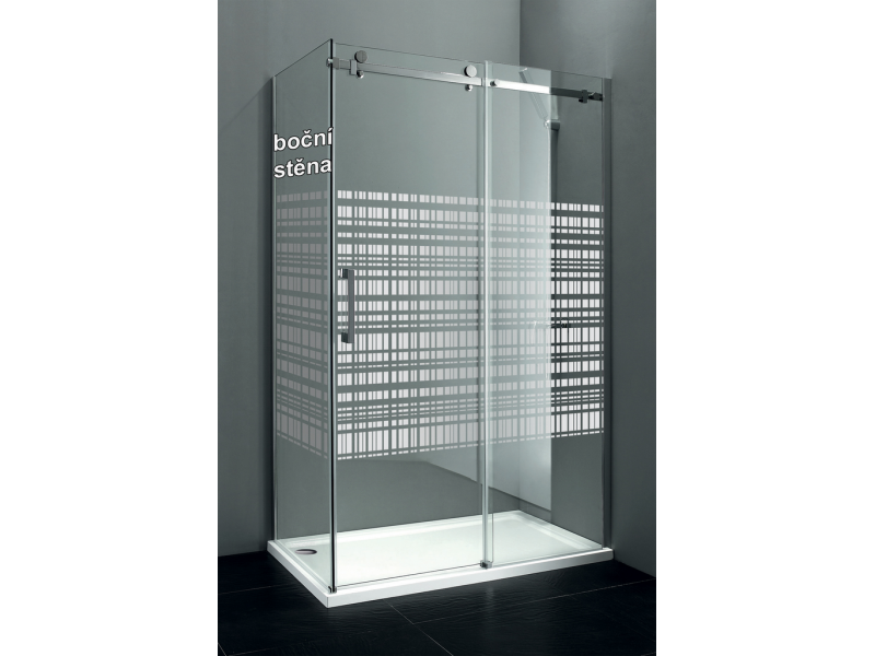 DRAGON GD7990SL Gelco Boční stěna sprchová - sklo Canvas, levá