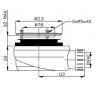PB90EXN MINUS Gelco Sifon pro sprchovou vaničku  extra nízký