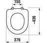 H8932813000631 WC sedátko antibakteriální nerezové úchyty