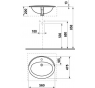 JIKA IBON 8.1301.1.000.104.1 Umyvadlo zápustné 56×47 cm