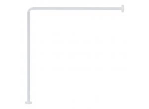 20992 CANT Tyč na sprchový závěs L-form - bílá