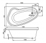 AVONA 150×90 L Vagnerplast Vana asymetrická s podporou