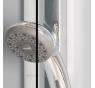 SL13 0900 50 07 SanSwiss Sprchové dveře jednokřídlé s pevnou stěnou 90 cm