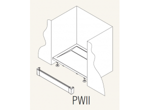 PWII 120 04 SanSwiss Přední panel hliníkový pro obdélníkovou vaničku 120 cm - bílý