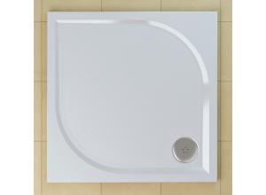 WMQ 0900 04 SanSwiss Sprchová vanička čtvercová 90×90 cm - bílá