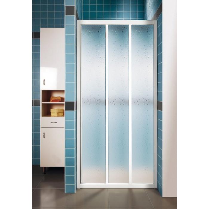 ASDP3-120 PEARL RAVAK Sprchové dveře třídílné 120 cm bílé