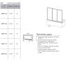 AVDP3-150 TRANSPARENT Vanová zástěna třídílná 150 cm bílá