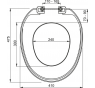 A3553 WC sedátko plast AlcaPlast
