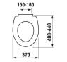 ZETA JIKA H8932740000001 WC sedátko duroplastové plastové úchyty