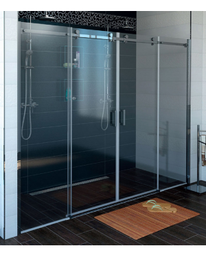 DRAGON GD4810 Sprchové dveře čtyřdílné posuvné - sklo čiré