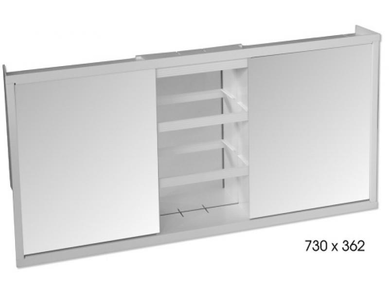 640104 Zrcadlová skříňka třídílná
