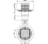 APV201 AlcaPlast Podlahová vpusť přímá mosaz-chrom 105×105/50