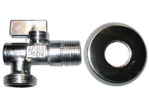 CR 39A Pračkový kulový kohout 1/2˝×3/4˝ sfiltrem a zpětnou klapkou