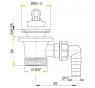 A31P AlcaPlast Umyvadlová výpusť 6/4˝ s nerezovou mřížkou pr.63mm apřípojkou