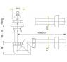 A413 Sifon pro umyvadlo prostorově úsporný  pr.63mm