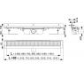 APZ4 AlcaPlast Liniový podlahový žlab FLEXIBLE pod obklad