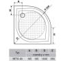 BETA 90 GB559H Gelco Sprchová vanička čtvrtkruhová - profilovaná