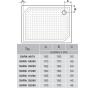 SARA 90×70 HS9070 Gelco Sprchová vanička obdélníková - hladká