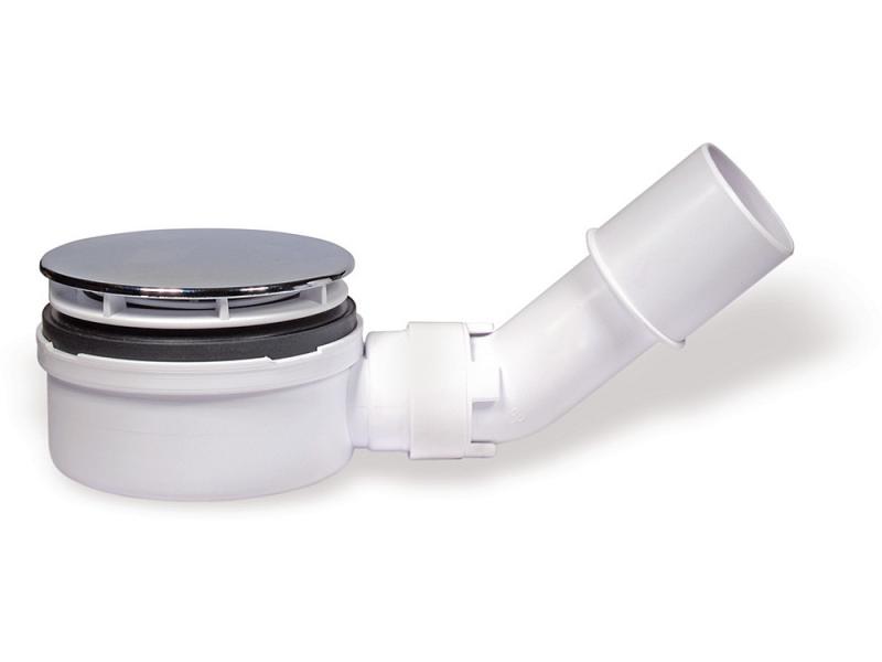 90 EXTRA Gelco Sifon pro sprchovou vaničku nízký - chrom