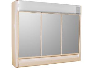RUBÍN BEIGE Jokey Zrcadlová skříňka se žárovkou 2x40W - béžová