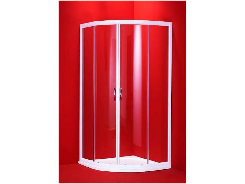 BARCELONA 90×90 bílý rám čirá Olsen-Spa sprchový kout