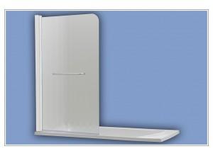 508 white chinchila Arttec vanová zástěna jednodílná s madlem