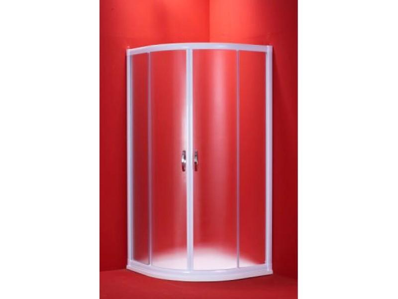 BARCELONA 100×100 bílý rám mat Olsen-Spa sprchový kout ,5mm matné
