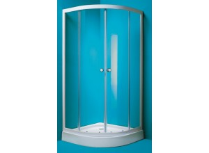 MADRID 80 Olsen-Spa sprchový kout chrom rám čiré sklo s akrylátovu vaničkou