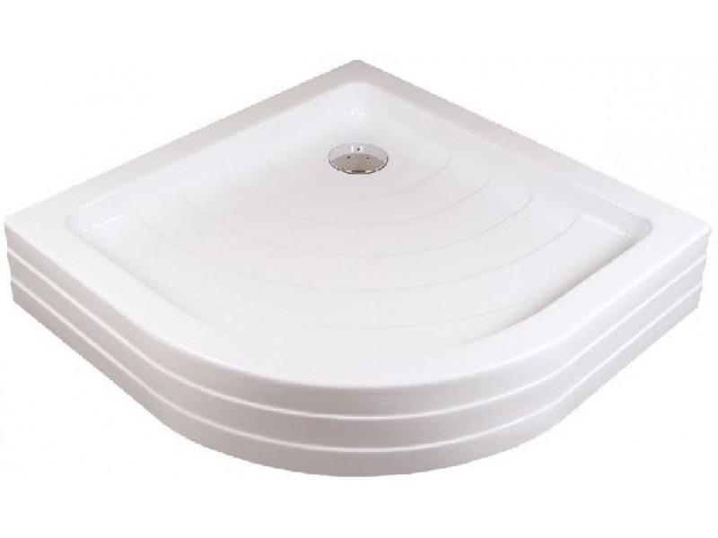 RAVAK RONDA 90 PU Sprchová vanička čtvrtkruhová 90 cm - bílá