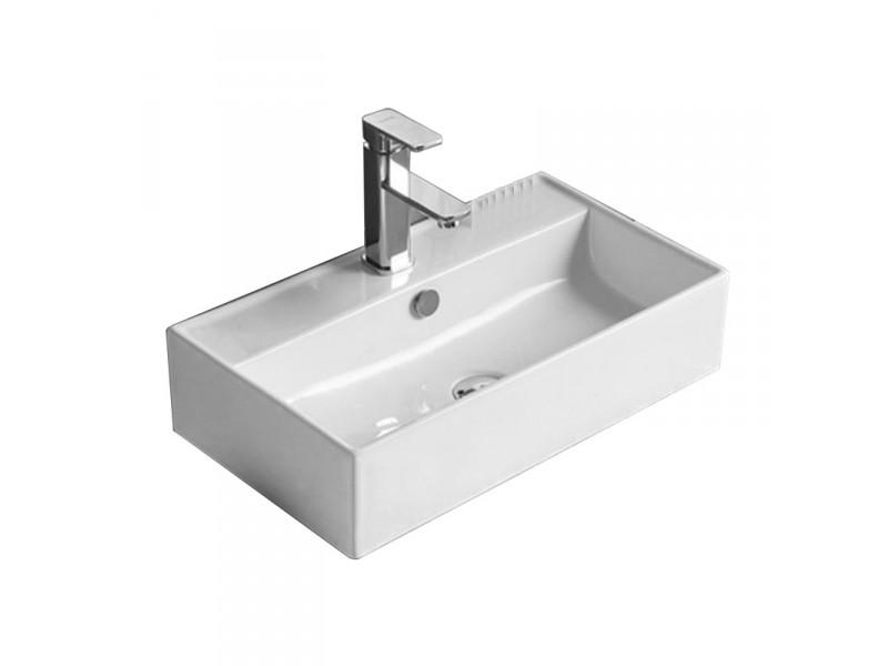 ALVARO Well umyvadlo na desku 55 x 32 cm bílé