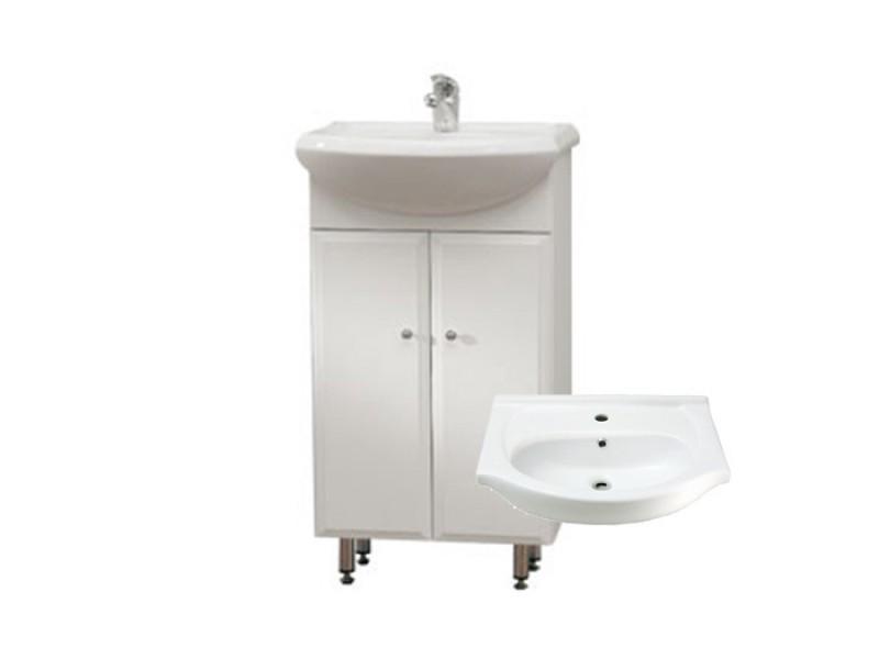 BEATA 55 ZV Well Koupelnová skříňka s umyvadlem, závěsná s nožičkami