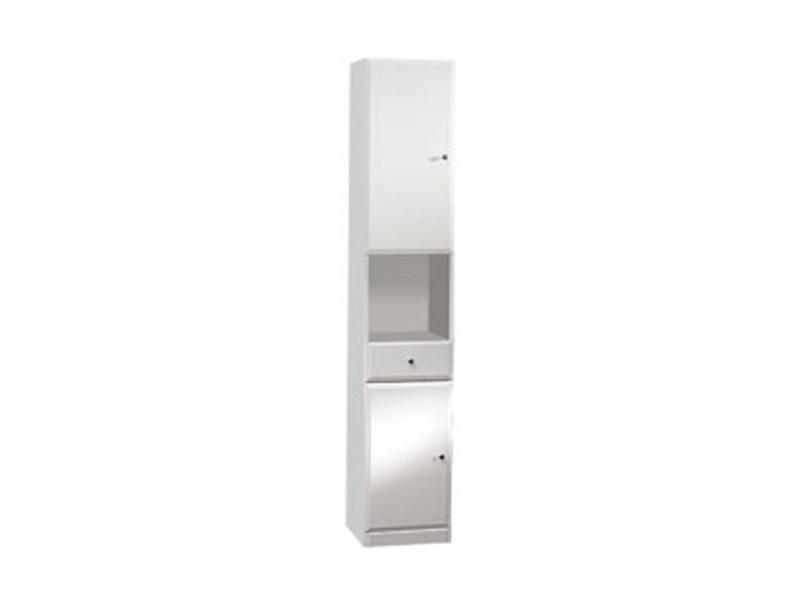 BEATA V 32 L Well Koupelnová skříňka vysoká, sokl, levá