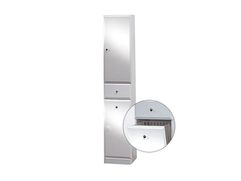 BEATA VK 170 P Well Koupelnová skříňka vysoká plná, sokl, koš, pravá