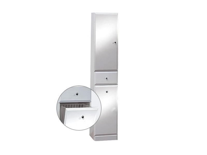 BEATA VK 170 L Well Koupelnová skříňka vysoká plná, sokl, koš, levá