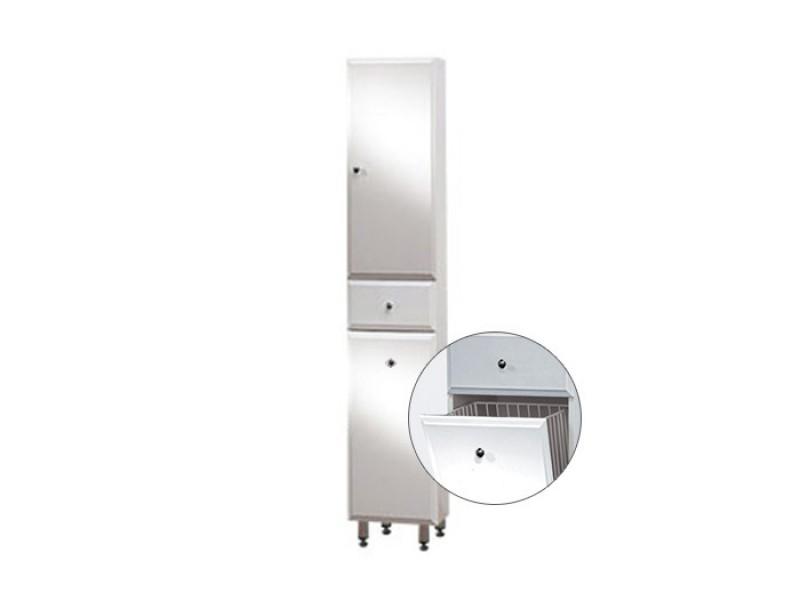 BEATA VK 170 ZV P Well Koupelnová skříňka vysoká plná, závěsná s nožičkami, koš, pravá